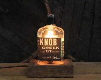 Knob Creek Whiskey Bottle Light, Bourbon Bottle Lamp, Knob Creek Gift, Present For Whiskey Lover, Gift For Dad, Whiskey Lamp, Bar Lighting