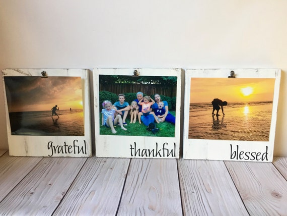 Grateful Thankful Blessed Picture Frame Set Picture Frame