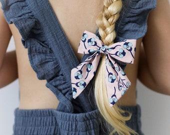 Liberty Sailor Bow, Girls Hair Clip, Liberty of London, Liberty Hair Clip, Floral Hair Bow, Fabric Hair Bow, Liberty Ros Hair Bow