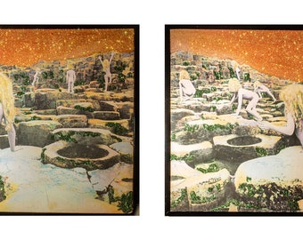 Glittered Led Zeppelin Houses of the Holy 2 piece Installation