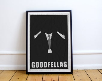 FREE SHIPPING* Goodfellas - Movie Poster, Goodfellas Poster, Poster, Movie, Goodfellas Print, Goodfellas Movie, Minimalist Poster, Goodfella