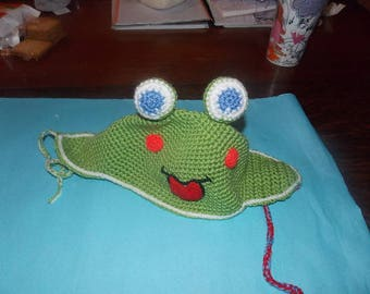 the frog hat size 3 months