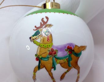 personalized ornament, porcelain, hand painted