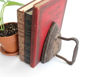 Antique Iron, Vintage Prop, Bookend