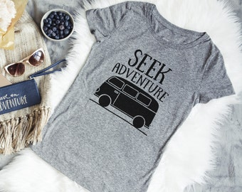Women's T-shirt - Seek Adventure Gray Tee