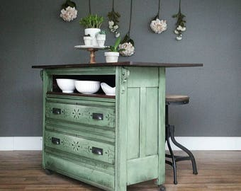 repurposed dresser kitchen island kitchen island etsy 4770