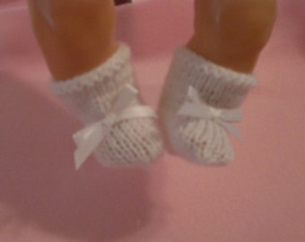 "15-16"" White Booties"