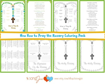 New How to Pray the Rosary Coloring Pages PDF