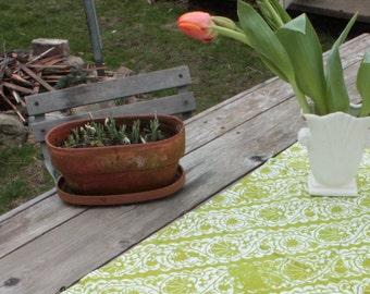 bright leaf green floursack towel