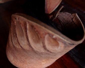 Elephant Ear Dried Pods 2 quarts- Leathery Pod