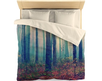 Deep in the Forest Bedding Set | Forest Duvet Cover | Nature Bedding Set | Nature Home Decor | Pillow Shams | King Duvet Cover | Moody