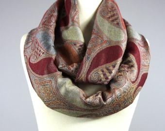 Pashmina scarf, Pashmina infinity scarf, Earthy scarf