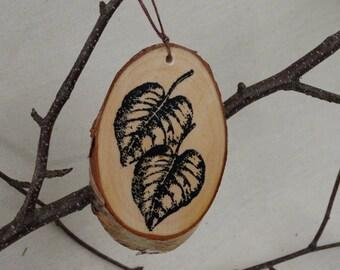 SALE 40% off. Leaf birch ornament Christmas ornament