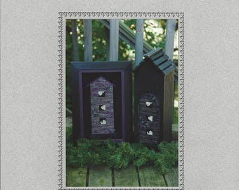 """Clearance - """"Haunted Birdhouse"""" Counted Cross Stitch Chart by Sekas & Co."""