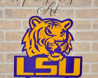 LSU Tiger Yard Stake