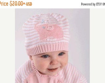 SALE 50% OFF Hand-knit pink elephant sweater for babies
