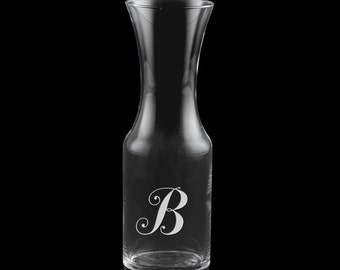 1 Liter Carafe - With Personalized Etched Monogram