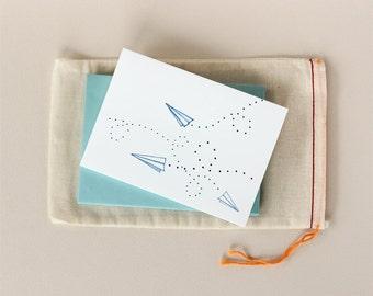 Paper Airplanes Notecard Set