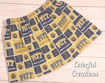 Pitt Skirt, University of Pittsburgh Skirt, Girls Skirt, Twirl Skirt
