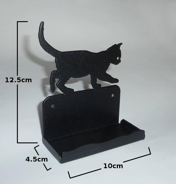 Cute cat kitten metal business card holder office desk colourmoves