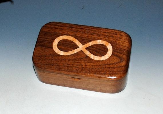 Handmade Wooden Box - Wood Box -Maple Inlay Infinity Walnut - Small Wooden Box, Revenge Box, Small Wood Box, Small Jewelry Box-Wood Gift Box