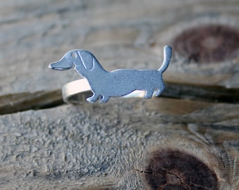 Dachshund Ring-Dachshund Silver Ring-Dachshund Sterling Ring-Dachshund Jewelry-Dog Charm-Dog Ring-Silver Animal Jewelry-Valentines Day Gift