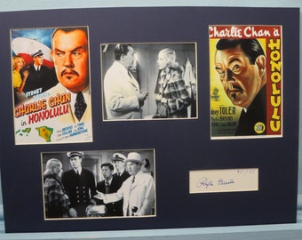 Sidney Toler - Charlie Chan in Honolulu & Phyllis Brooks autograph as Judy Hayes