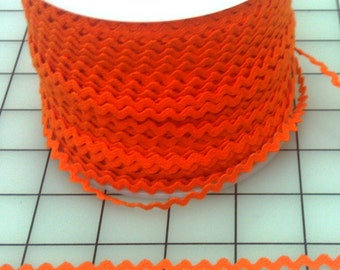 Orange Rick Rack, By the YARD, Orange, 1/4 Inch Wide, Costume Trim, Children's Clothing, Craft and Home Project Trim, Pillows, Clothing