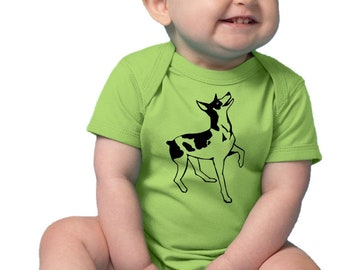 Rat Terrier Baby Bodysuit, Terrier Shirt, Baby Clothes, Dog Shirt, Family Pet, New baby Gift, Short Sleeved  Baby Onepiece Rat Terrier Dog