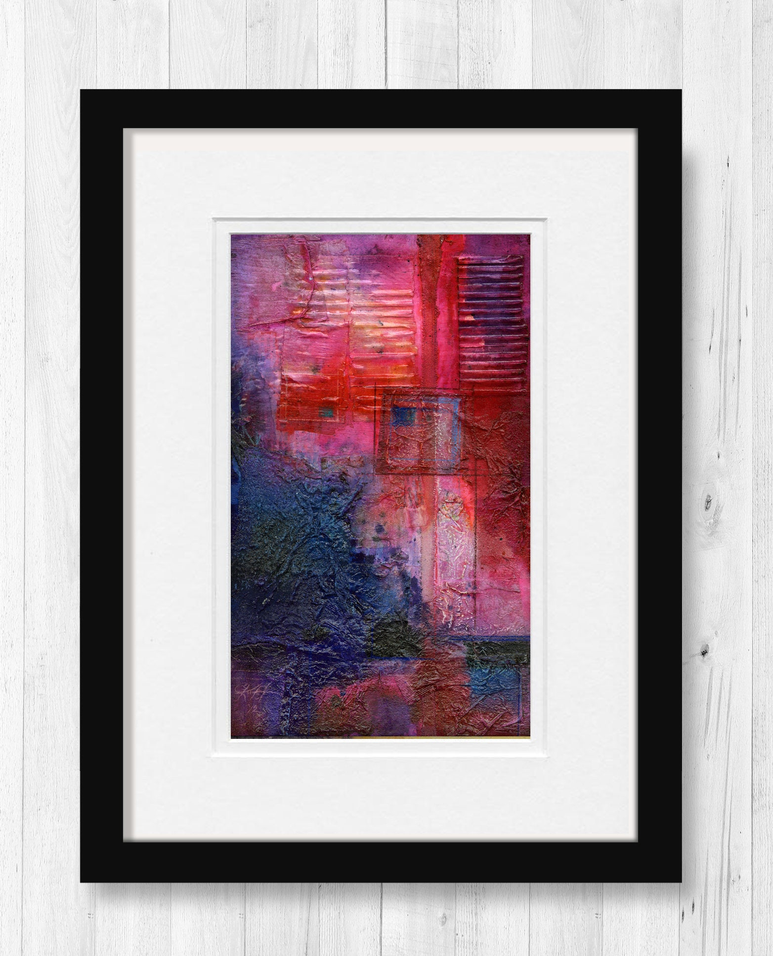 Rot Original abstrakte Malerei zeitgenössische moderne