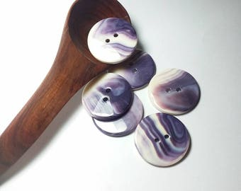 1 two hole Wampum button 1 1/2