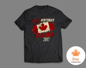 Limited Edition Canada Anniversary T-Shirt | Canada 150th Birthday | Canada Day Shirt | Canada