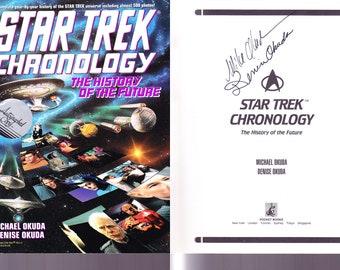 STAR TREK Chronology / SIGNED / Denise Okuda, Michael Okuda / Paperback