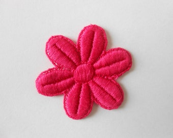 Pink flower cotton 4.5 x 5 cm