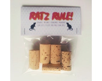 Boredom Breaker Cork Pieces for Rats and Other Small Animals