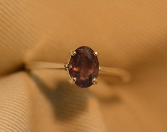 Alexandrite Ring, Certified Alexandrite Solitaire, 1.18 Carats Color Change Genuine Natural Real Alexandrite June Birthstone Jewelry