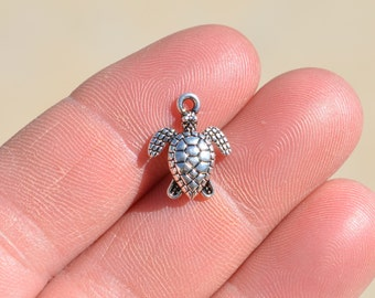 1 Silver Turtle Charm SC1052