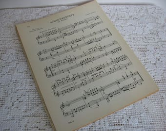 Music Pages,Book Pages,Vintage Paper,Vintage Music,Sheet Music,Craft Paper,Art Supply,Scrapbook Paper,Junk Journal,Circa 1934,Full Sheets