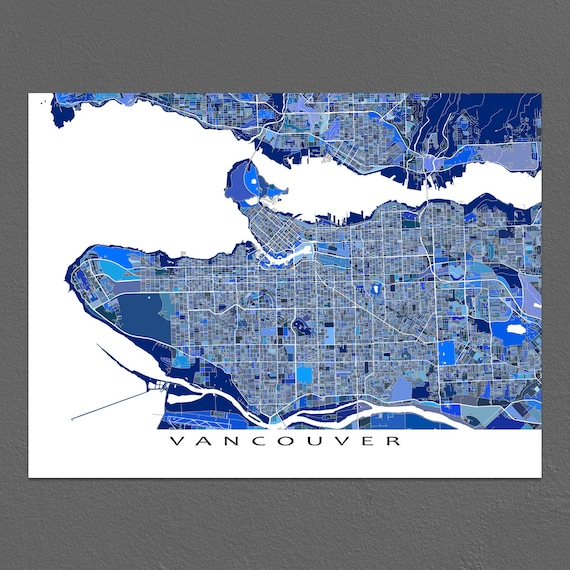 Vancouver map art print vancouver art bc british columbia like this item gumiabroncs Choice Image