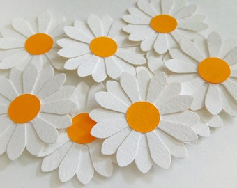 Paper Flowers for Scrapbook and Decoration, Paper Daisies, 10 pcs