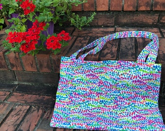 Multicolored Rainbow Canvas Tote Bag