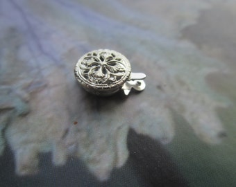 Vintage Ornate 1970's Sterling Filigree Safety Clasp 8mm Round 1 Clasp
