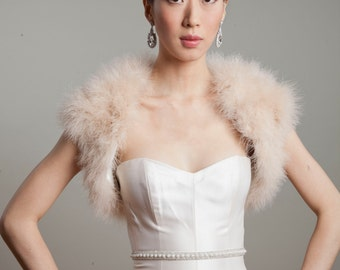 Marabou Feather Bolero Jacket