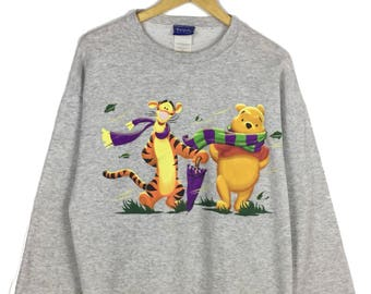 POOH and Tigger Sweatshirt Pooh Pullover Crewneck Sweater pooh and friends