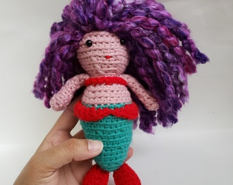 Mini Mermaid Amigurumi Crochet Doll