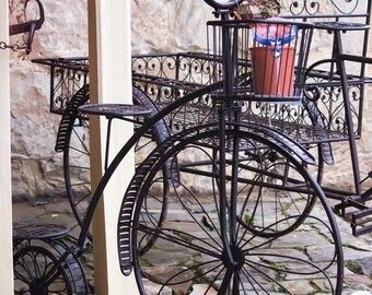 Bicycle Photography, Bike Photo, Bicycle Art, Rustic Home Decor, Paris Photography