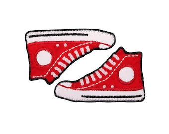 Sneakers Iron On Applique, Sneakers Iron On Patch, Shoes Patch, Shoes Applique, Sneakers Applique, Boys Patch, Kids Patch, Embroidered Patch
