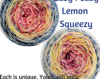 Easy Peasy Lemon Squeezy Impressionist Gradient, dyed to order - pick your yarn and yardage!