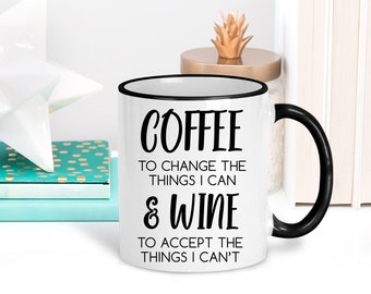 Wine Lovers Gift | Coffee Quote Mugs | Funny Wine Mug | Wine Gifts for Her | Funny Office Mugs | Gift for Coworker | Funny Coffee Cup