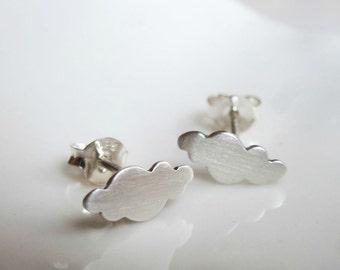 Mini Cloud earrings - sterling silver